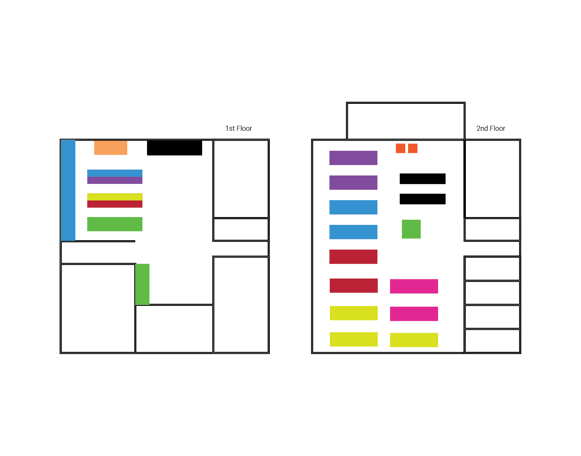 color coded section map